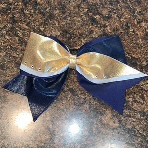 Accessories - Navy, Silver and Gold Bow